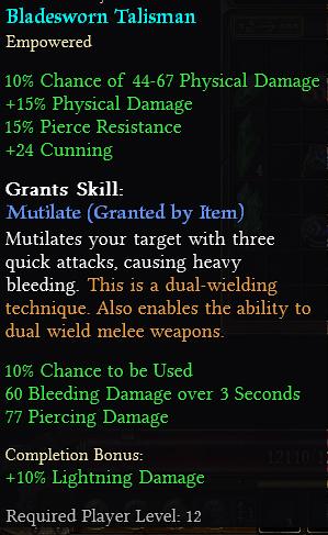 Bladesworn Talisman