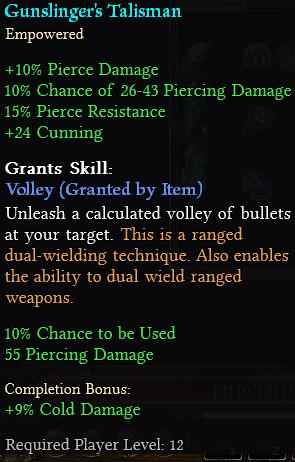 Gunslinger's Talisman
