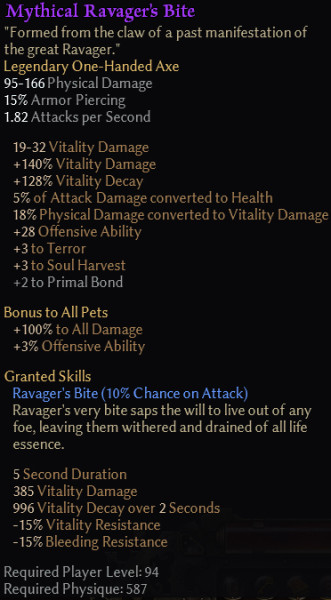 gm120 Ravager's Bite Stats